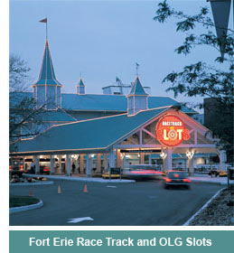 Fort Erie Rack Track at night